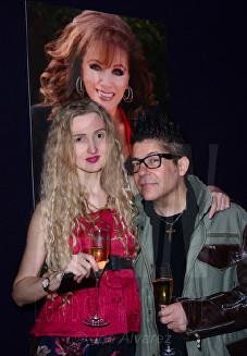 "Tamara Orlova-Alvarez, Joe Alvarez at the Jackie Collins ""A Life In Chapters"" private view at Bonhams © Joe Alvarez"