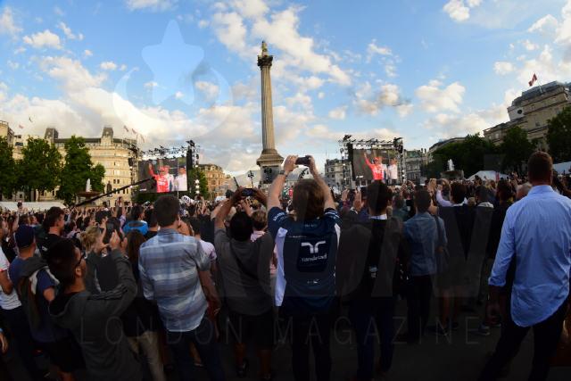 Formula One F1 at Trafalgar square London © Getty for Formula 1