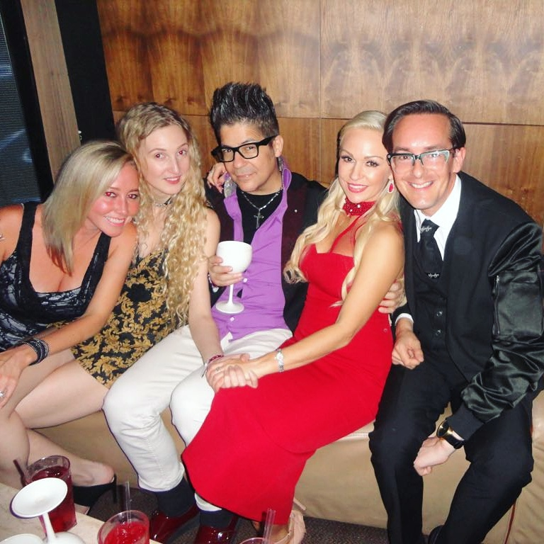 Beth Jones, Tamara Orlova-Alvarez, Joe Alvarez, Kristina RIhanoff, Darren Charman at Kristina Rihanoff's 40th Birthday © Joe Alvarez