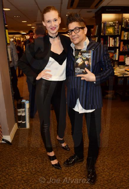 Tamara Orlova-Alvarez and Joe Alvarez at Princess Olga Romanov's book launch © Joe Alvarez