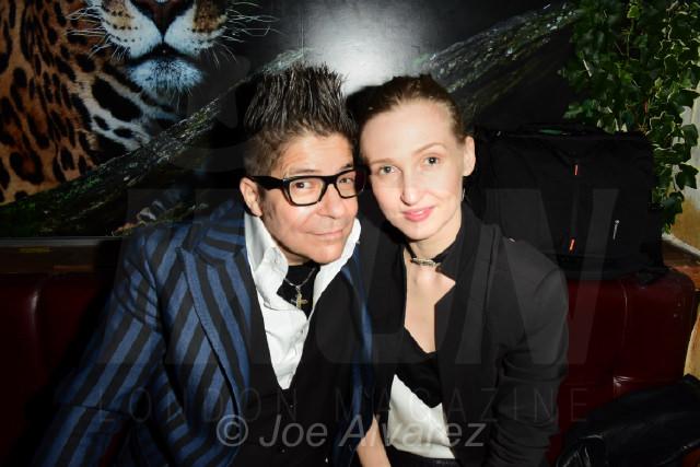 Joe Alvarez and Tamara Orlova-Alvarez at Tonteria 5th anniversary party © Joe Alvarez