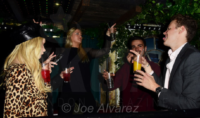 Lottie Moss Partying with friends at Tonteria 5th anniversary party © Joe Alvarez