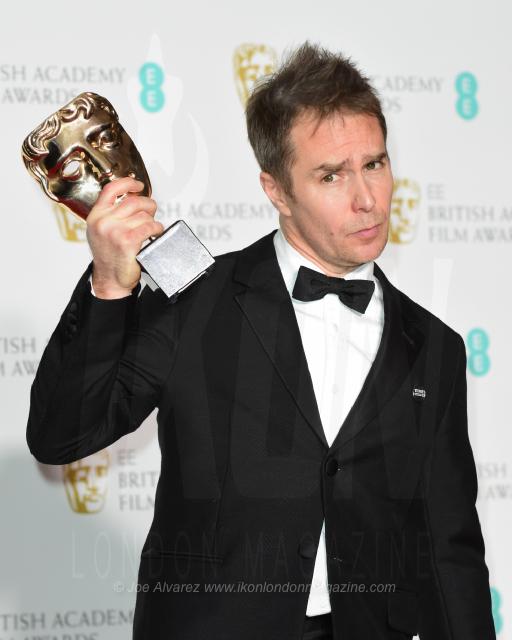 Sam Rockwell at the BAFTAs Winners Room Best Supporting Actor - Three Billboards Outside Ebbing Missouri © Joe Alavrez