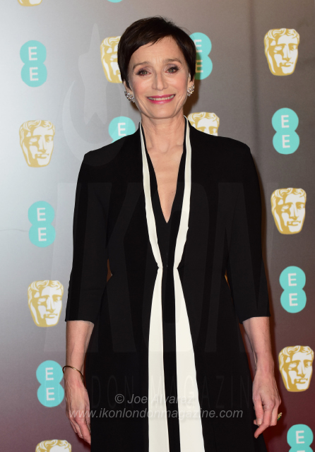 Kristin Scott Thomas The BAFTAS arrivals © Joe Alvarez 14039 copy
