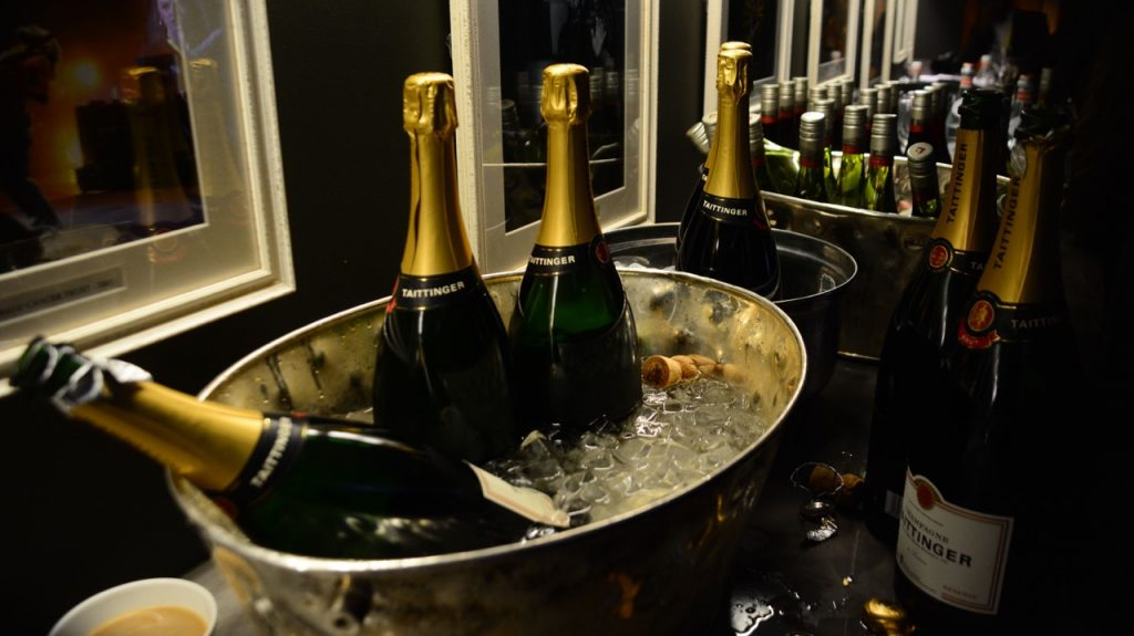 Another reason to love BAFTAs. Taittinger Champagne sponsoring celebratory drinks at BAFTAs 2018 Winners' Room.