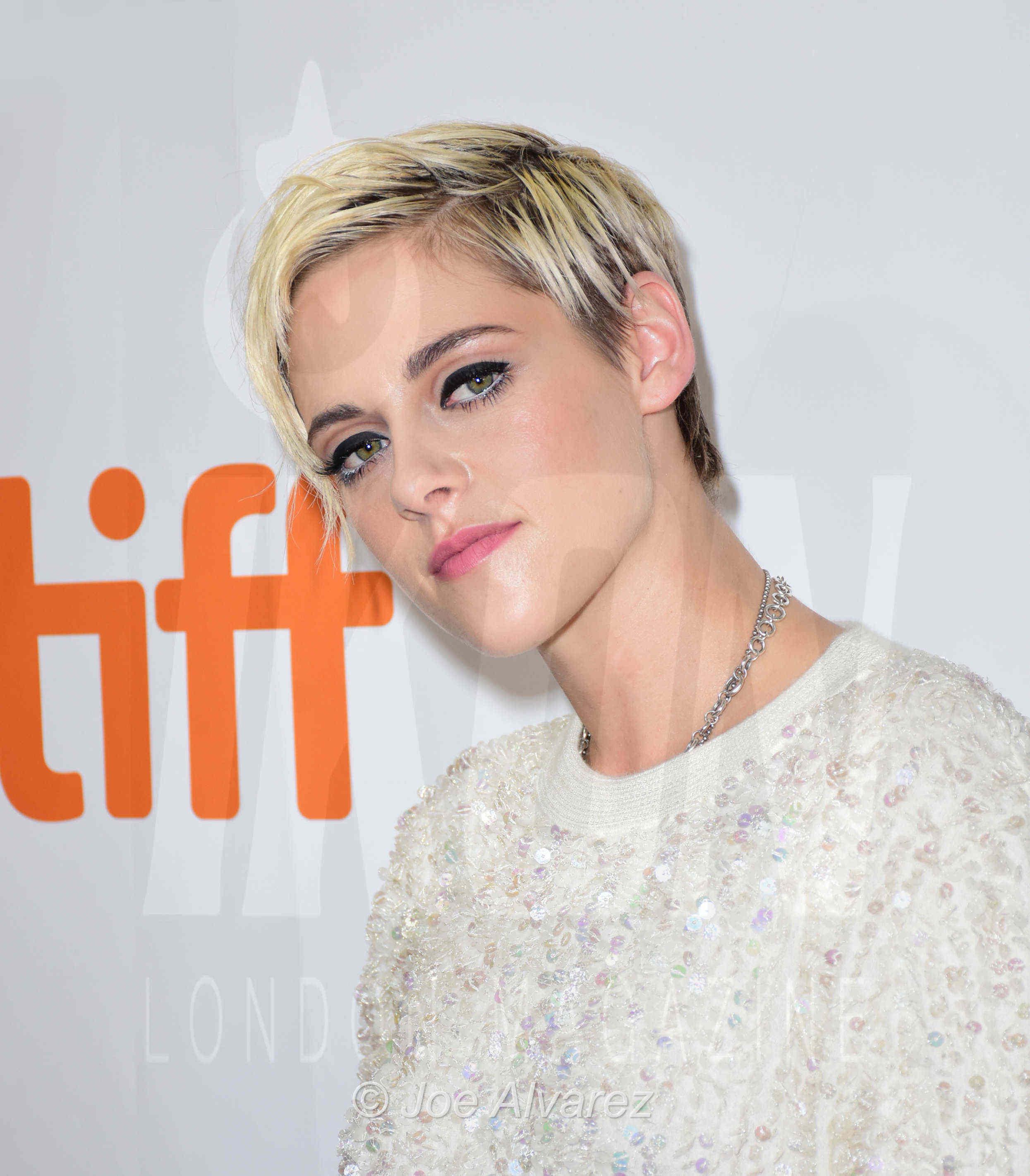 Kristen Stewart Jeremiah Terminator LeRoy at the Toronto premiere © Joe Alvarez