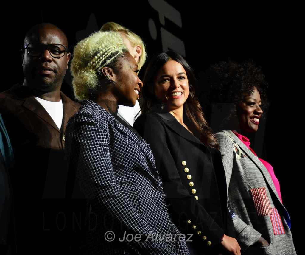 Steve McQueen, Cynthia Erivo, Michelle Rodriguez, Viola Davis © Joe Alvarez