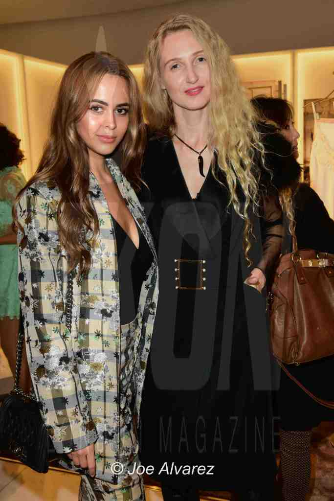 Bethan Wright, Tamara Orlova-Alvarez La Perla Second Skin Launch party London © Joe Alvarez