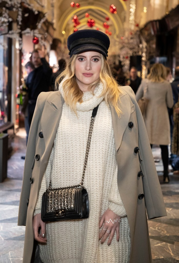 "LONDON, ENGLAND - NOVEMBER 14: Rosie Fortescue attends the ""A Burlington Christmas"" at Burlington Arcade on November 14, 2018 in London, England. (Photo by Mike Marsland/Mike Marsland/Getty Images for Burlington Arcade) *** Local Caption *** Rosie Fortescue"