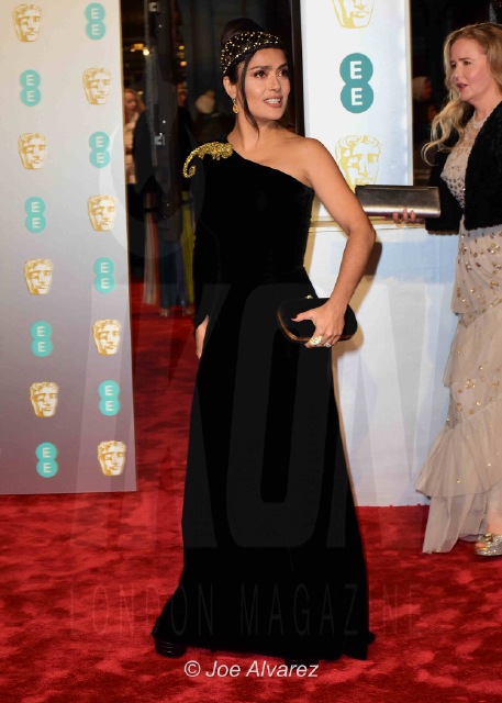 Salma Hayek EE British Academy Film Awards 2019 © Joe Alvarez