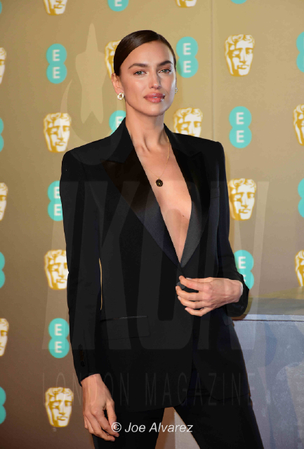 Irina Shayk EE British Academy Film Awards 2019 © Joe Alvarez