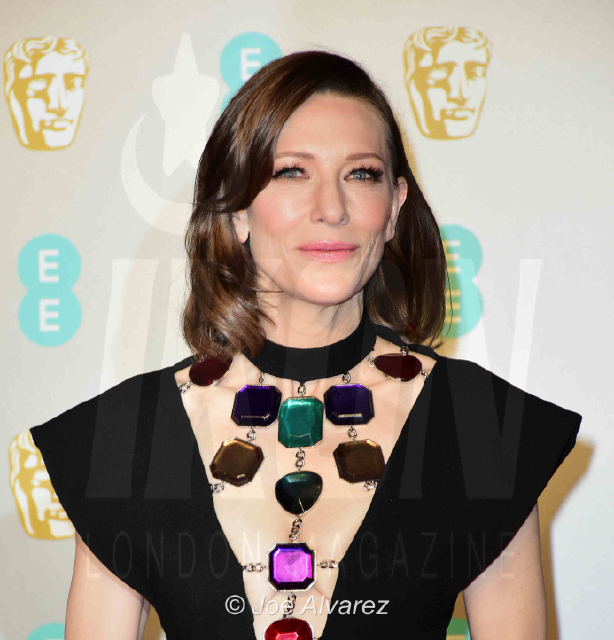 Cate Blanchett arriving at the BAFTA 2019 Awards © Joe Alvarez