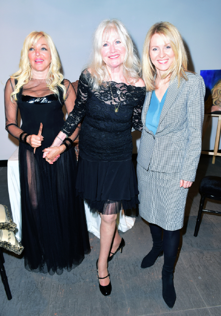Frances Segelman, Debbie Moore OBE, Esther McVey Debbie Moore OBE sculpting by Frances Segelman © Joe Alvarez