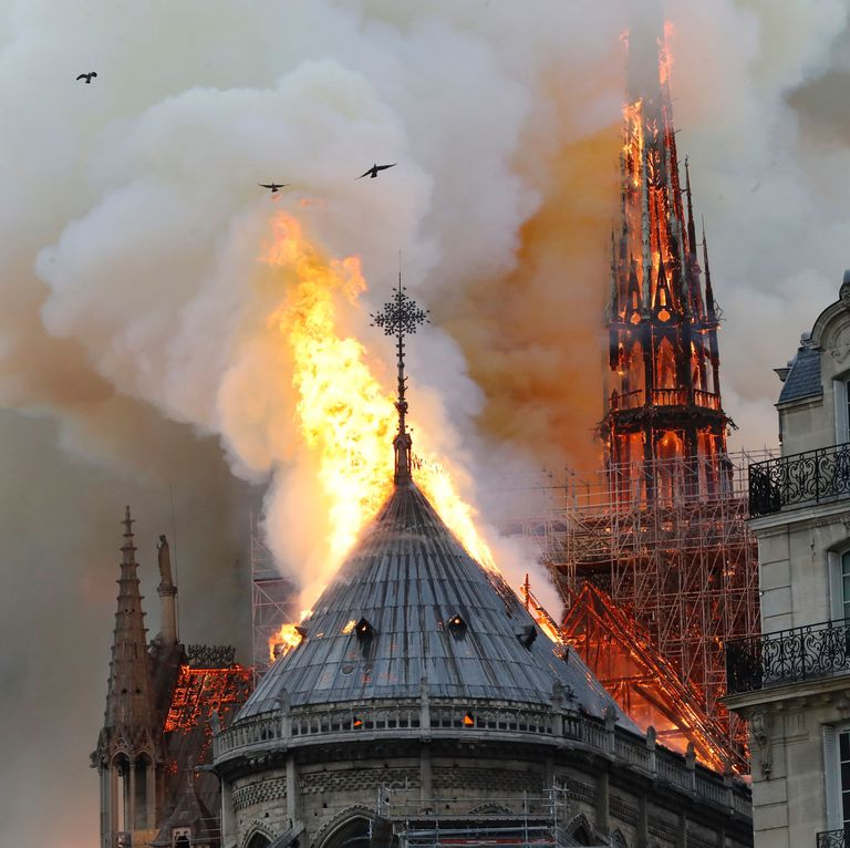 Was Notre Dame Fire Arson? Video Shows Man 'Lighting' Up 'Flashes