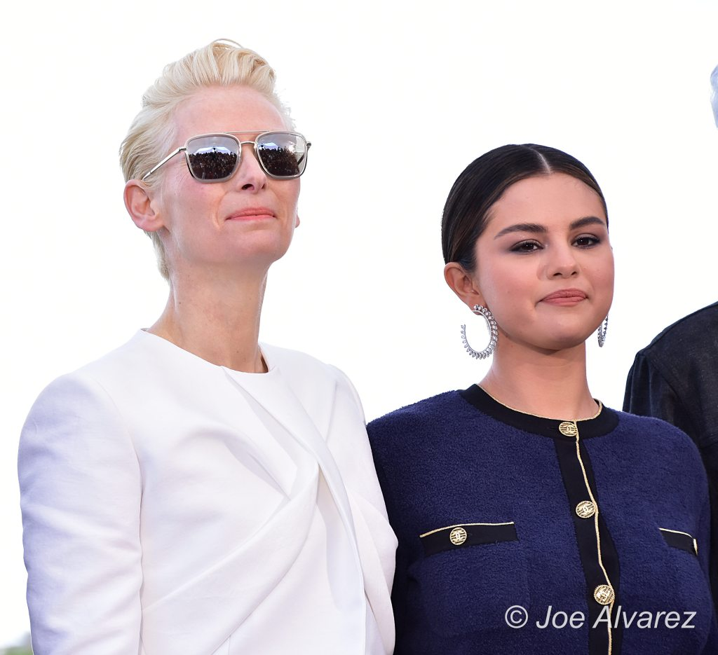 Tilda Swinton, Selena Gomez, Jamie Jarmusch The Dead Don't Die photocall Cannes - Cannes © Joe Alvarez