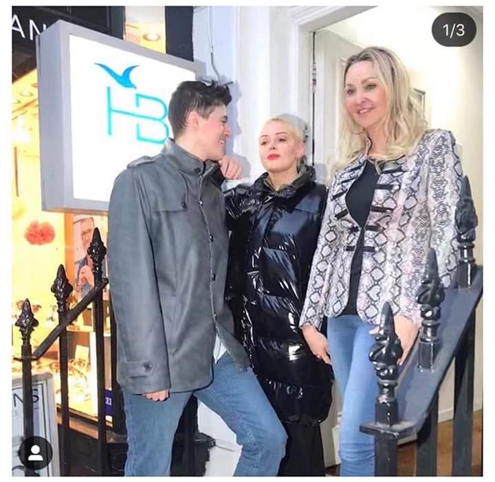 Rose McGowan, Heather Bird at the HB CBD oil beauty clinic
