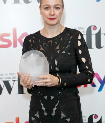 LONDON, ENGLAND - DECEMBER 06: Samantha Morton winner of the QI Best Performance Award in the winners room at the Women in Film and TV Awards 2019 at Hilton Park Lane on December 06, 2019 in London, England. (Photo by David M. Benett/Dave Benett/Getty Images for Women in Film and TV)