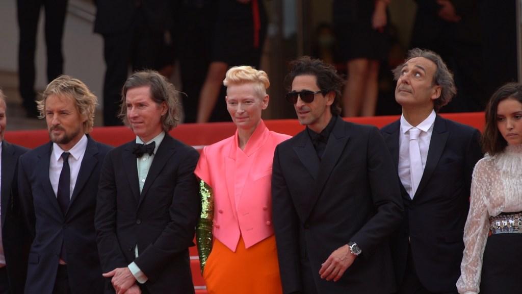 Owen Wilson, Wes Anderson, Tilda Swinton, Adrien Brody, Alexandre Desplat, Lyna Khoudri © Daynight.TV