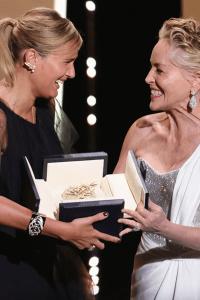 Sharon Stone and Julia Ducournau - Titane, Palme d'or © Andreas Rentz / Getty Images