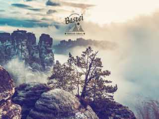 Bastei im Nebel