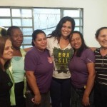 Volunteer in Rio with the project staff