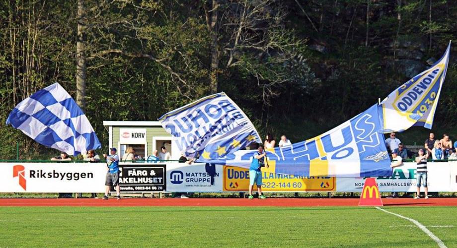 Bohus Bataljon i matchen mot FC Trollhättan. FOTO: Susann Sannefjäll