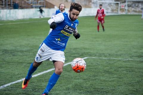 Mido i träningsmatchen mot Stenungsunds IF. FOTO: Tomas Sandström