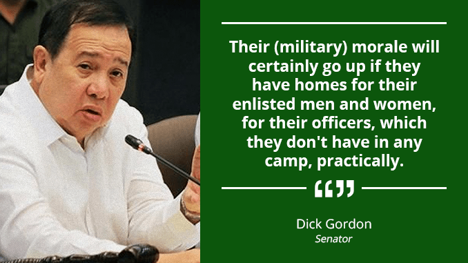P464-Million for the Construction of Barracks for Military Personnel – GORDON