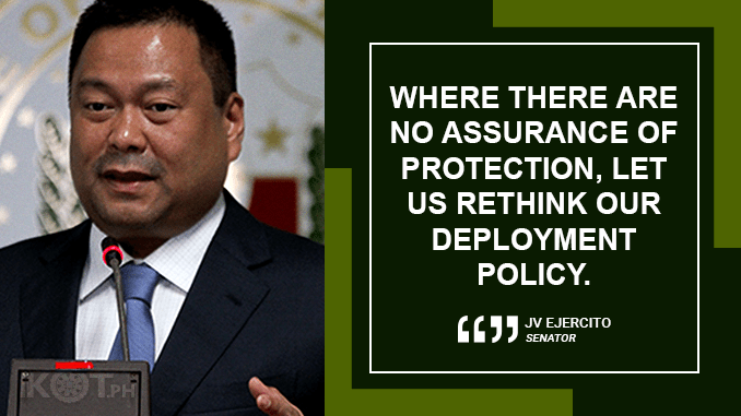 REVIEW OFW DEPLOYMENT POLICIES – EJERCITO