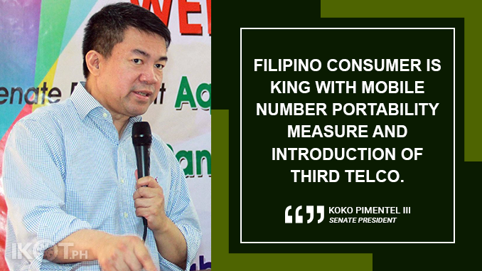 'FILIPINO CONSUMER IS KING' – PIMENTEL