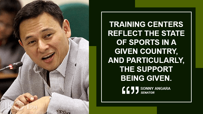 TRAINING FACILITY FOR PINOY ATHLETES TO BE CONSTRUCTED IN NEW CLARK CITY – ANGARA