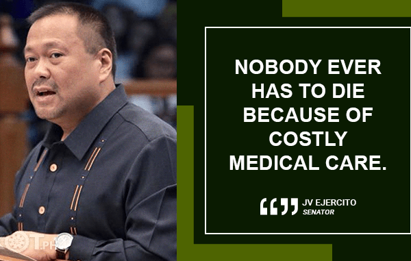 "UNIVERSAL HEALTHCARE IS ""PEOPLE'S BILL"" – EJERCITO"