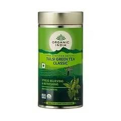 tulsi tea tin, green tea
