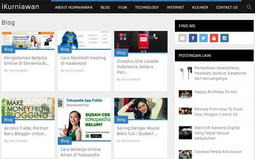 Theme WordPress Blog iKurniawan