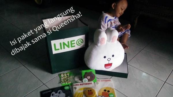 Dapat hadiah dari LINE Indonesia