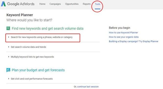 Mencari Keyword Blog Dengan Google Keyword Tools
