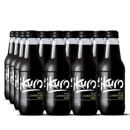 Black Lemon & Lime Sparkling Water 300mL (24 Pack)