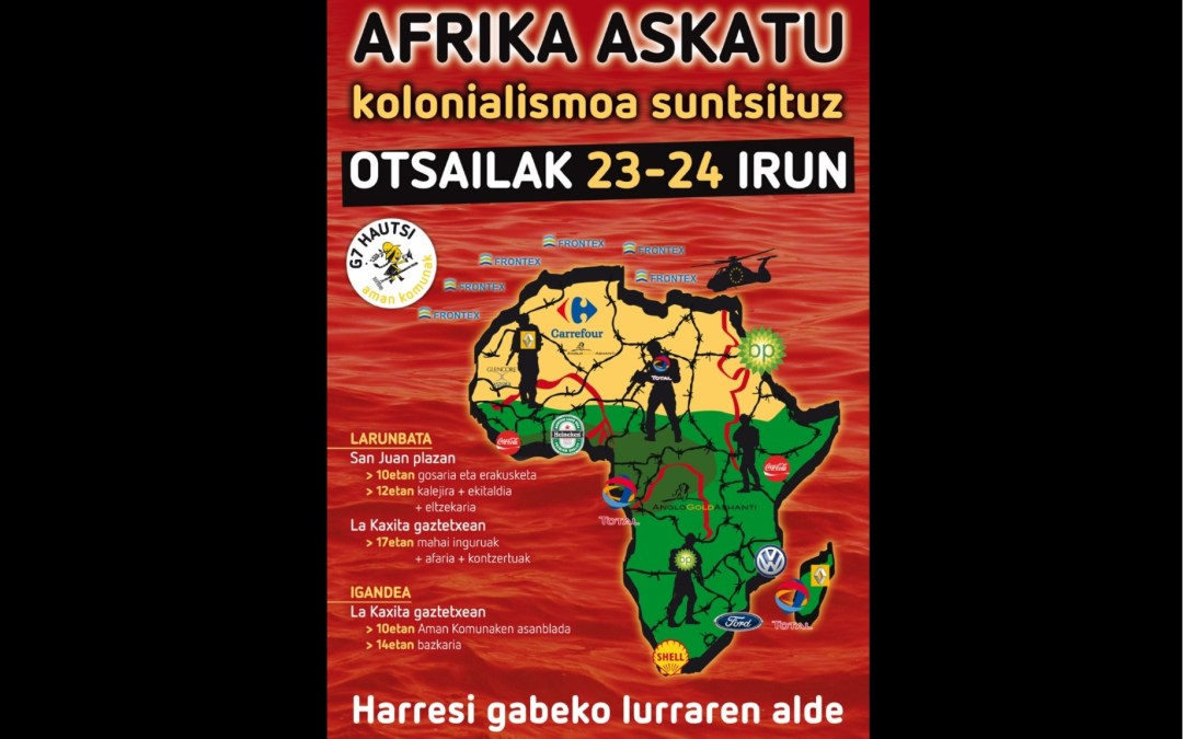 """""""Afrika askatu kolonialismoa suntsituz"""" jardunaldiak"""