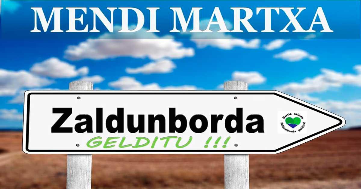 MENDI MARTXA ZALDUNBORDA