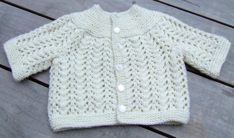 Knit Baby Sweater 2015