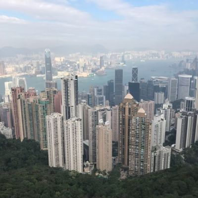 View Hong Kong from the sky