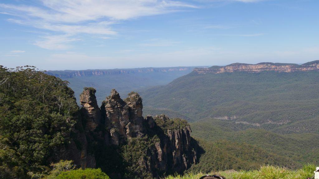 Uitzicht Blue Mountains op de three sisters (rocks)