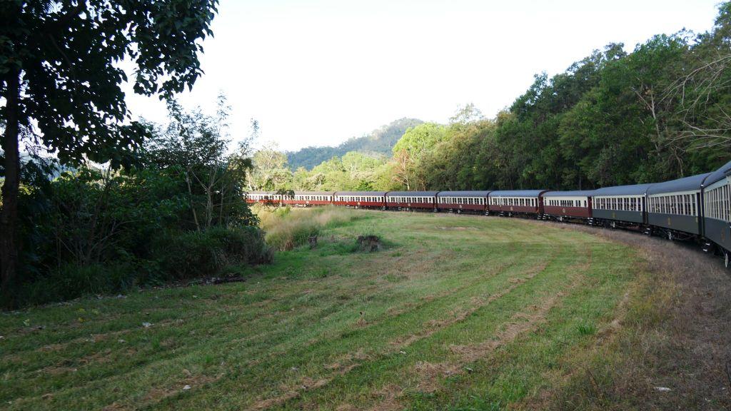 Kuranda trein van Kuranda naar Cairns in Australië