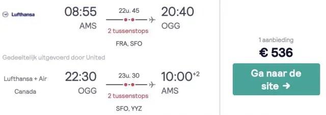 Amsterdam naar Hawaii met Lufthansa