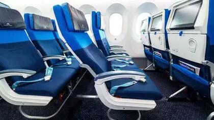 KLM Economy Comfort stoel