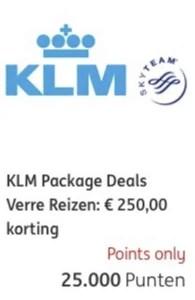 KLM package deal ING rentepunten 2