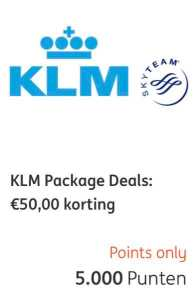 KLM package deal ING rentepunten 3