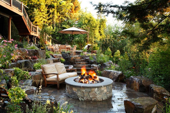 Elegant Quiet Corner Sloping Garden Design Ideas Quiet Corner