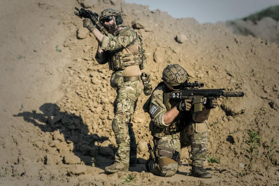 combat uniform