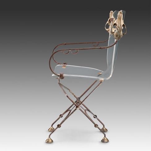 Skull Chair with Plexiglass